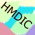 the initials for the website splashed across contrasting pastels angled mostly at 45 degrees for some reason